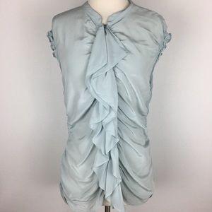 Bailey 44 Silk Ruffle Blouse size 8